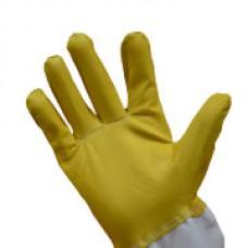 """Перчатки защитные Superskin из натуральной кожи с нарукавниками из ткани гретта """"Желтые ХХL"""" (размер 11)"""