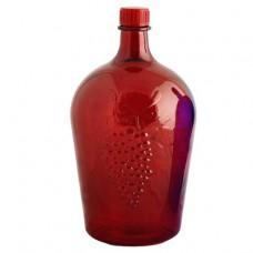 """Бутылка стекелянная """"Ровоам"""" 4,5л красная"""