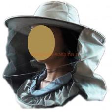 Сетка лицевая, полуоткрытая ткань плотная х/б, цвет СЕРЫЙ (943)