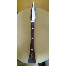 Нож стрела клиновидный со стамеской из нерж ручка дерево