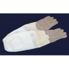 """Перчатки защитные Lux из натуральной кожи с нарукавниками""""Серые XХL"""" (размер 11)"""