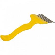 Вилка для распечатки сот гнутая игла пл. желт. ручка