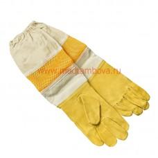 Перчатки кожаные с нарукавниками 3D дышащие XXL