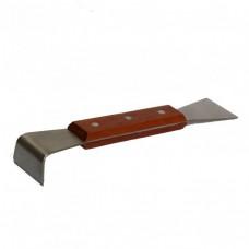 Стамеска нержавейка ручка деревянная 200 мм