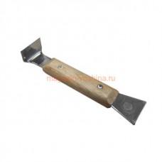Стамеска 10 2х35х160 мм деревянная ручка, нерж.